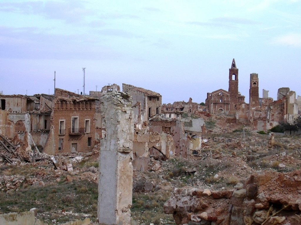 Belchite, Spain -  totally destroyed during the Spanish Civil War