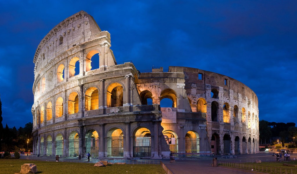 The Colosseum in Rome, known worldwide
