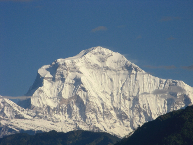 10 Highest Mountains In The World: Dhaulagiri, view from Ramrekha