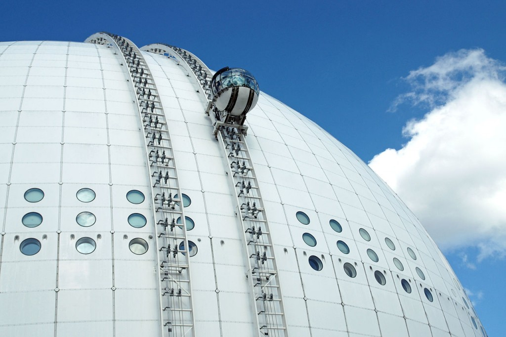 The SkyView of Ericsson Globe - Coolest Elevators