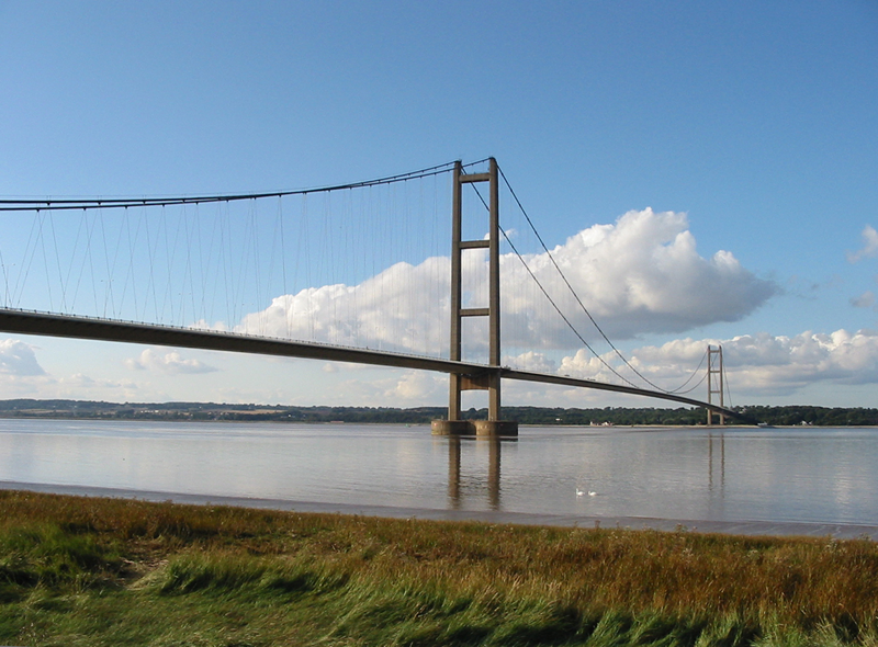 10 Longest Suspension Bridge Spans: Humber Bridge