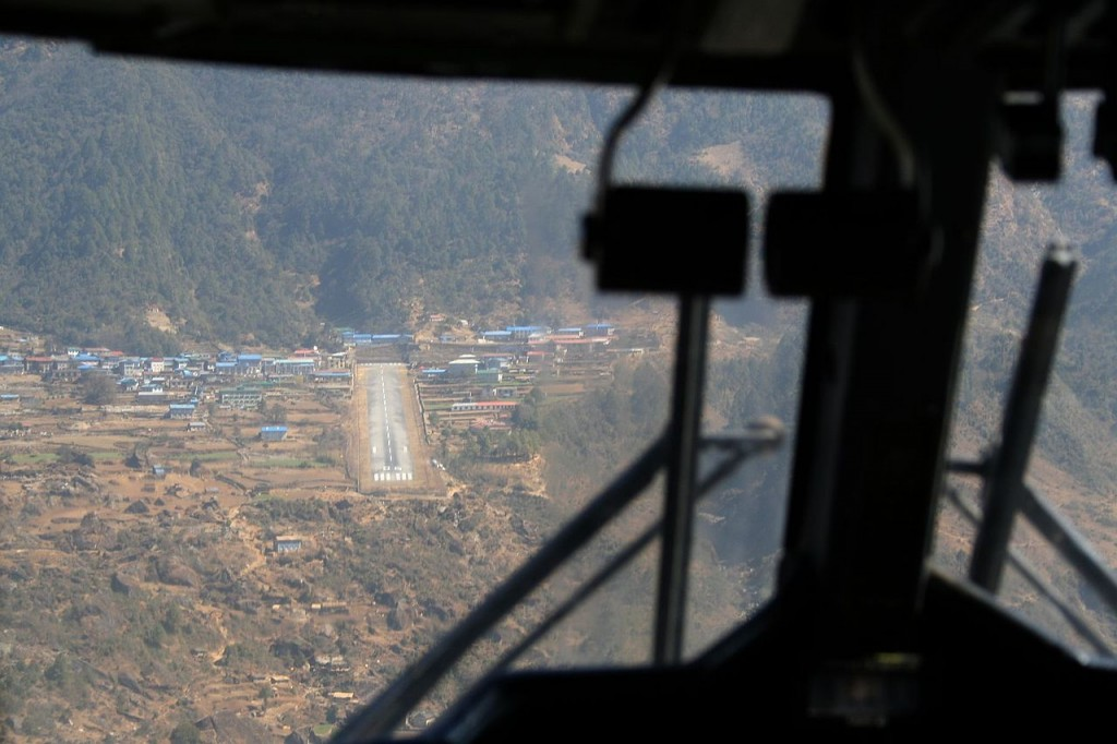 Lukla Airport, Nepal - the starting point to climb the Everest