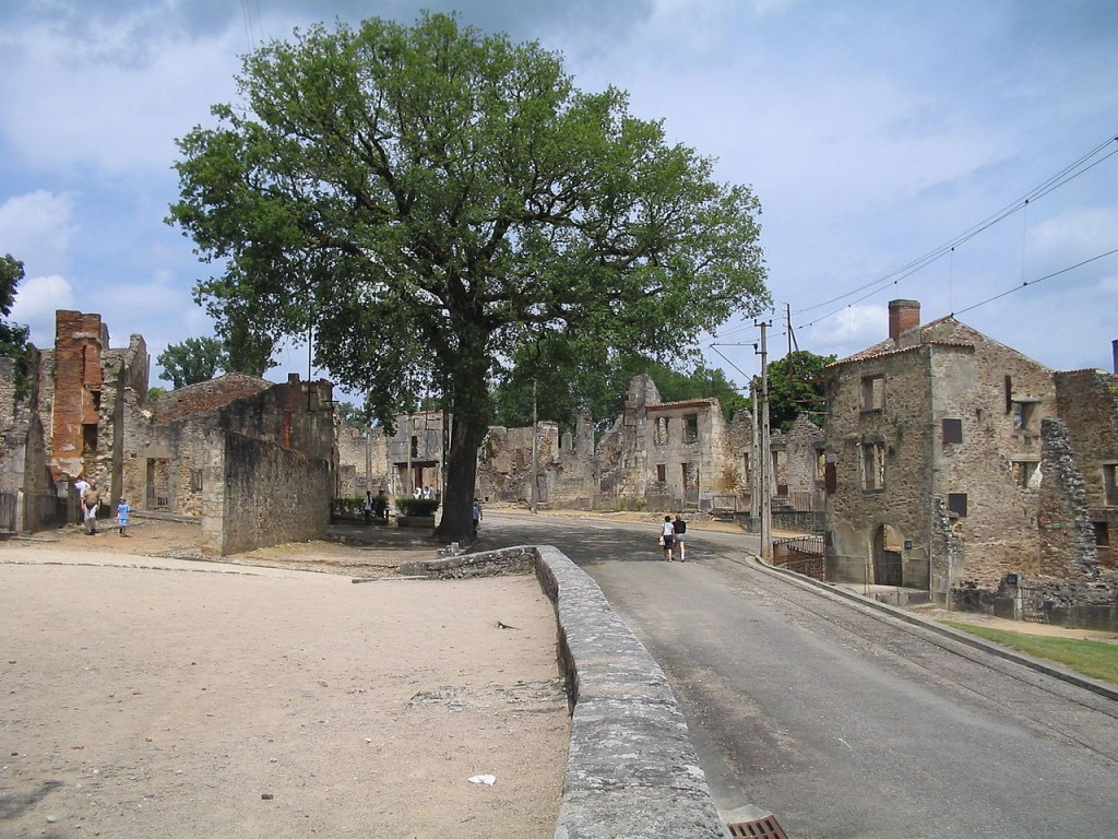 Oradour-sur-Glane - the entire population massacred by a German Waffen-SS company