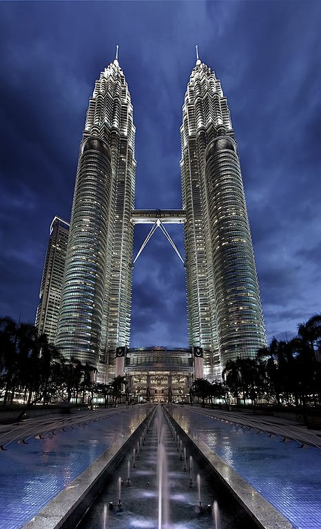 The Petronas twin towers - you'll see tourists with cameras all around it