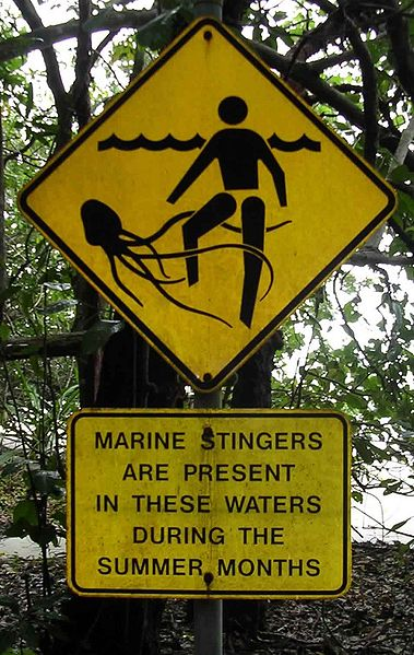 Warning signs in Queensland, Australia