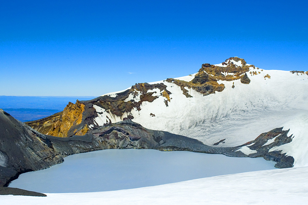 Mount Ruapehu Crater Lake, Tongariro National Park, New Zealand