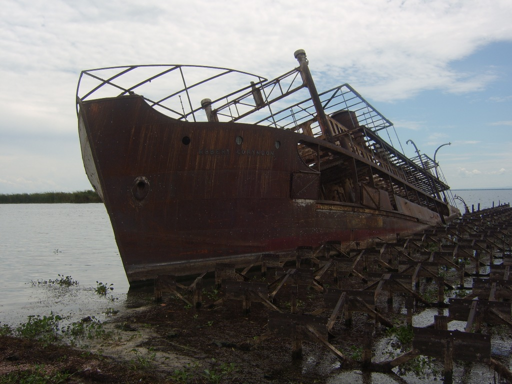 SS Robert Cornydon, wrecked on Lake Albert, Uganda (source: wiki)