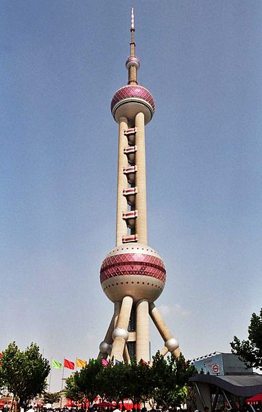 10 Tallest Towers In The World: Oriental Pearl Tower
