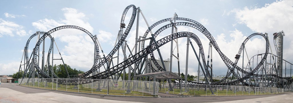 Takabisha, Fuji-Q Highland Park, Japan - steepest roller coaster in the world