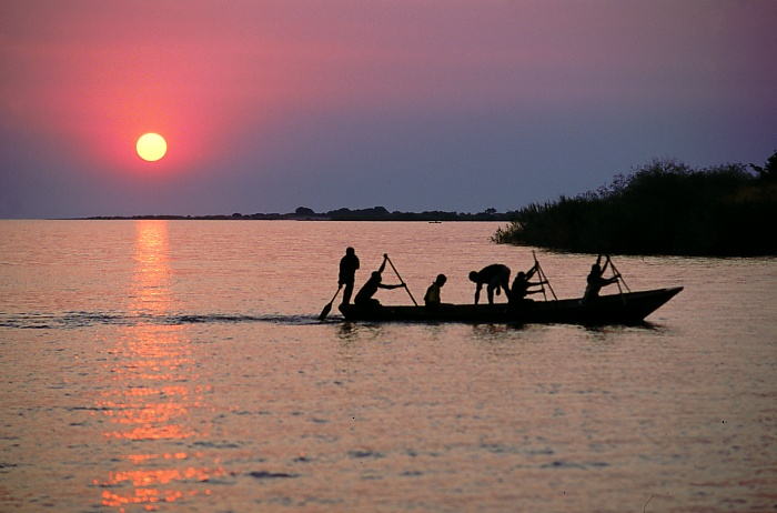 Lake Tanganyika, shared between four countries