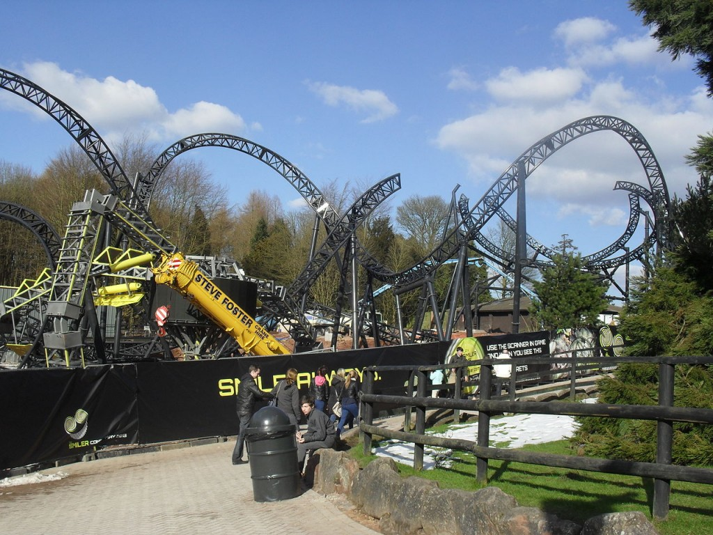 The Smiler, Alton Towers Park , England - world record for number of inversion