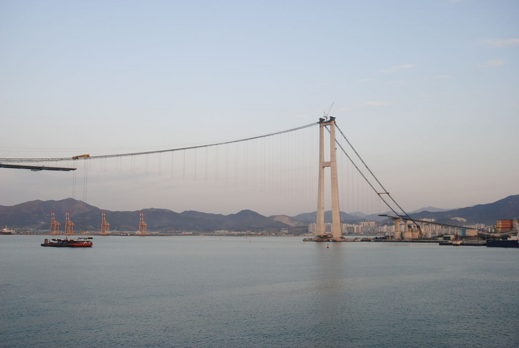 10 Longest Suspension Bridge Spans: Yi Sun-sin Bridge, South Korea