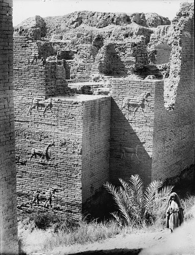 Walls Of Babylon, Iraq - one of the 7 wonders of the ancient world (photo from 1931)