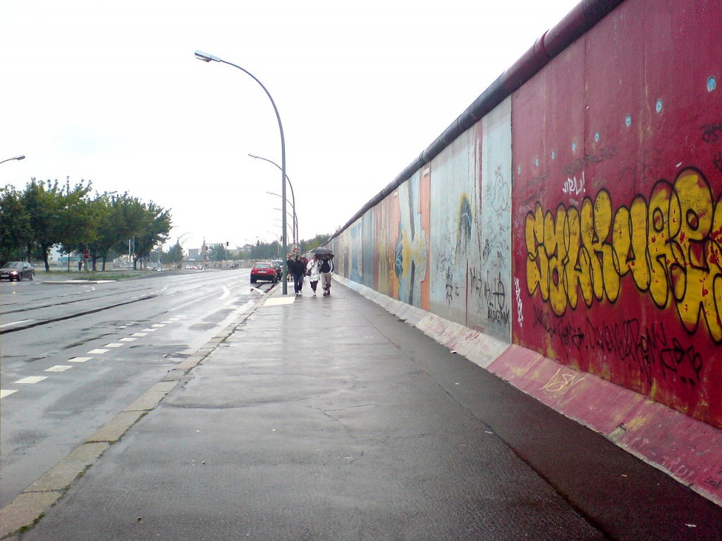 Berlin Wall - was finally taken down in 1989