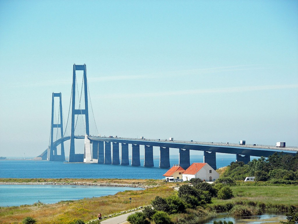 10 Longest Suspension Bridge Spans: Great Belt Bridge