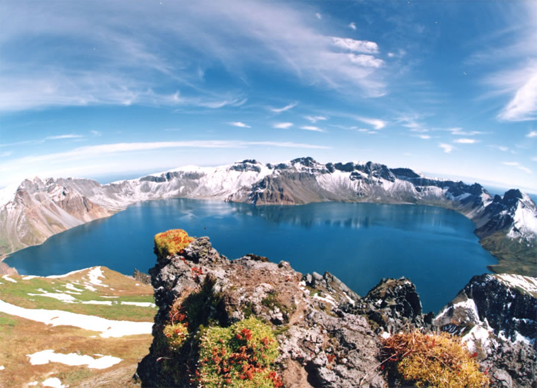 10 Most Beautiful Crater Lakes In The World: Heaven Lake, North Korea