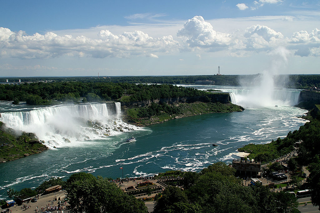 Niagara Falls on the Canada-US border