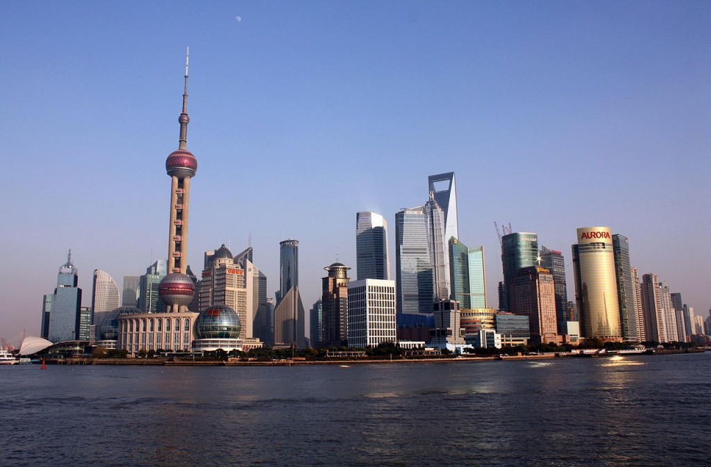 Shanghai. China produces 4.56% of the total oil production of the world