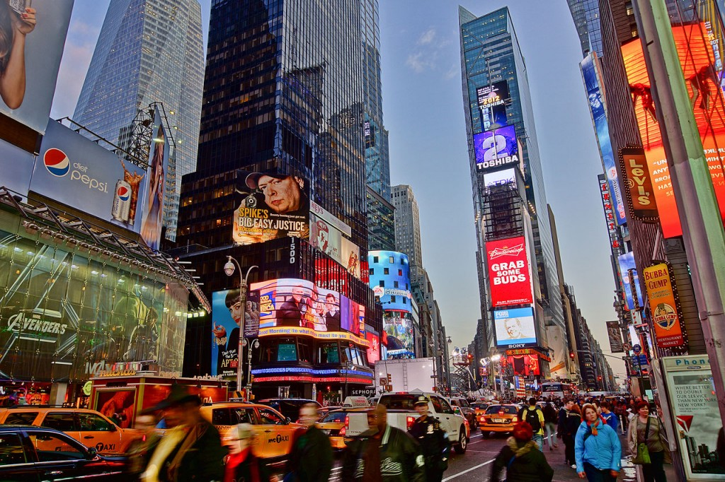 Times Square, Manhattan, NY - Major attraction for tourists