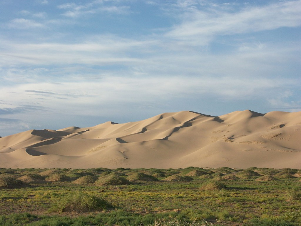 Most Beautiful Sand Dunes: Badain Jaran Dunes (source: wiki)