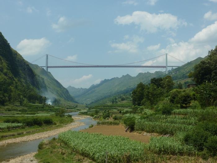 Highest Bridges: Baling River Bridge, China (source: wiki)