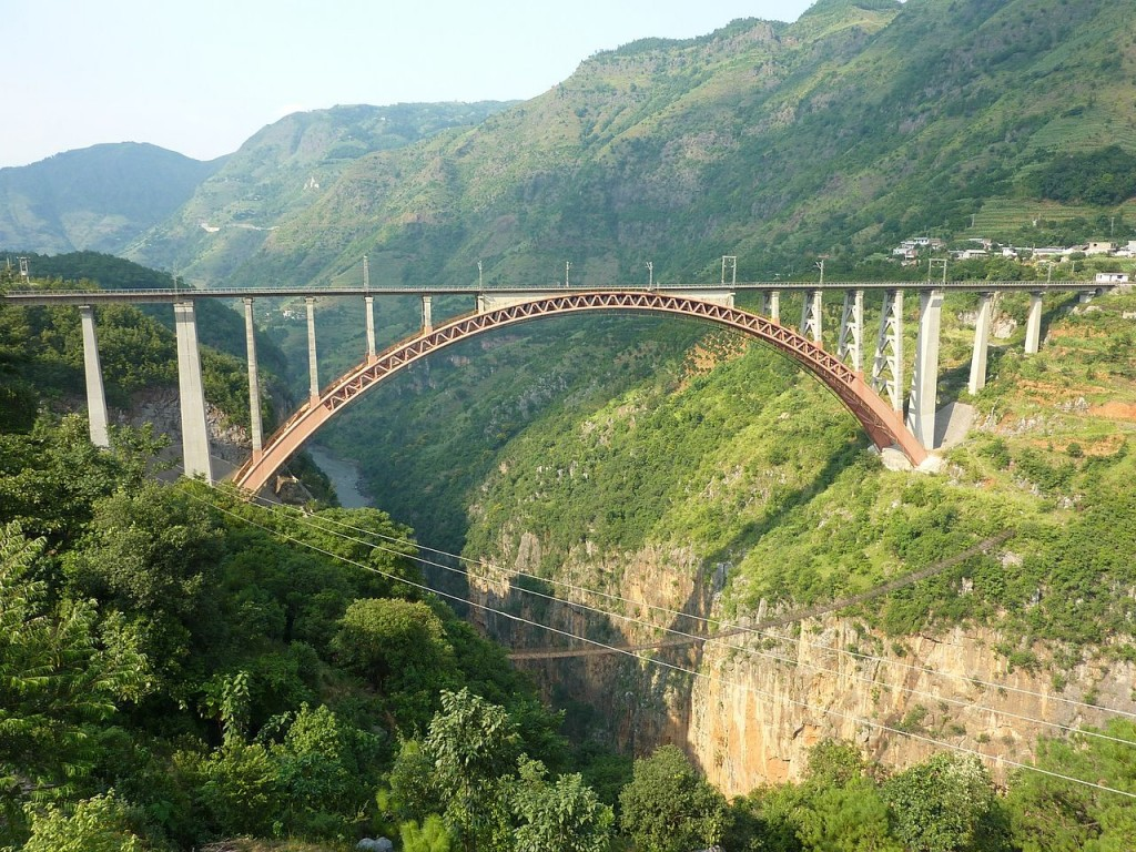 Beipanjiang River Railway Bridge, China (source: wiki)