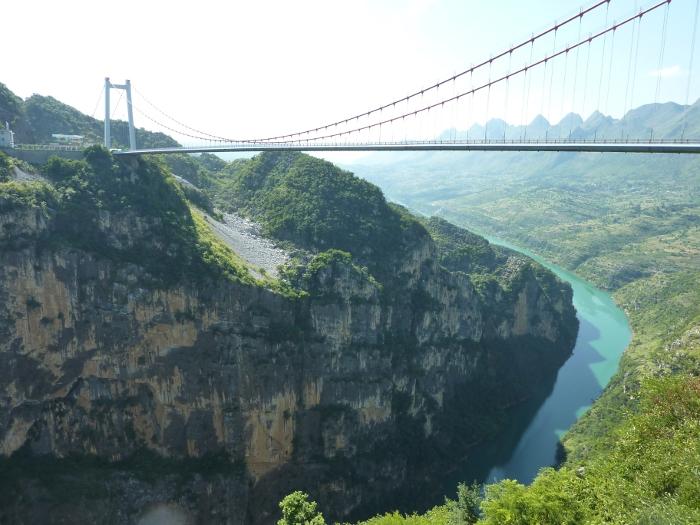 Highest Bridges: Beipanjiang River 2003 Bridge, China (source: wiki)