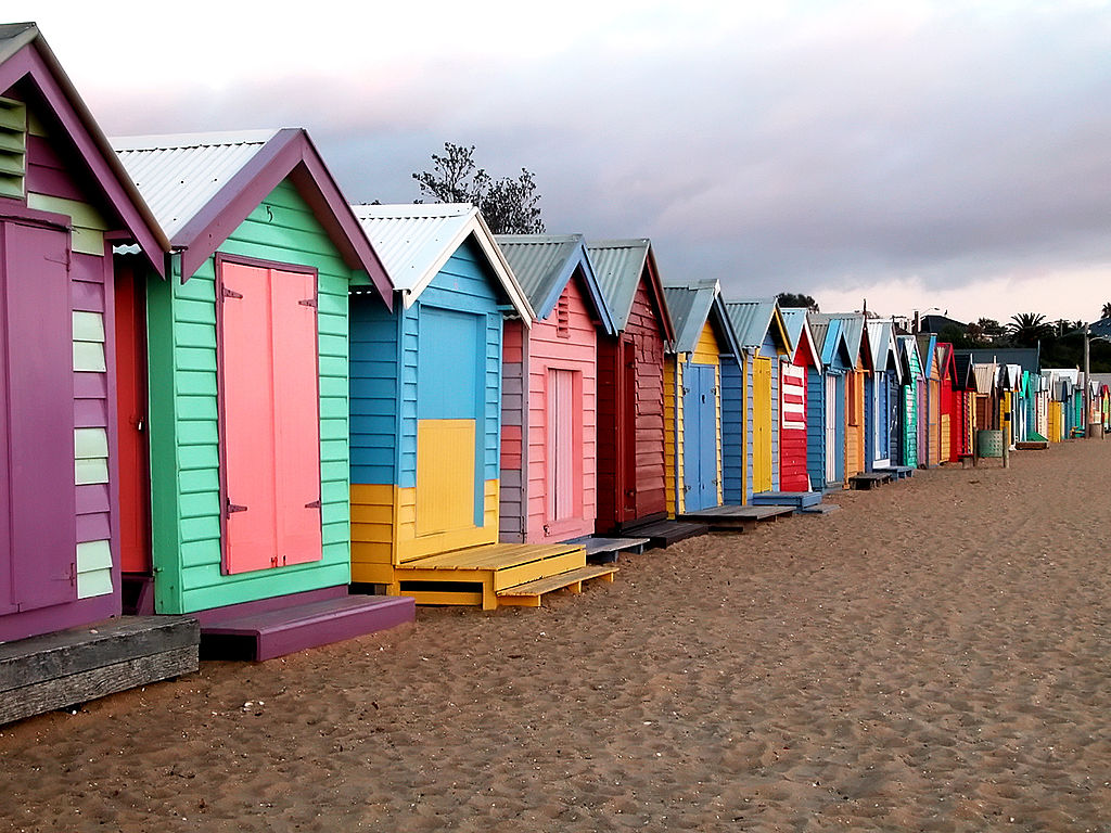 Most Colorful Places Brighton Beach bath boxes, Melbourne, Australia
