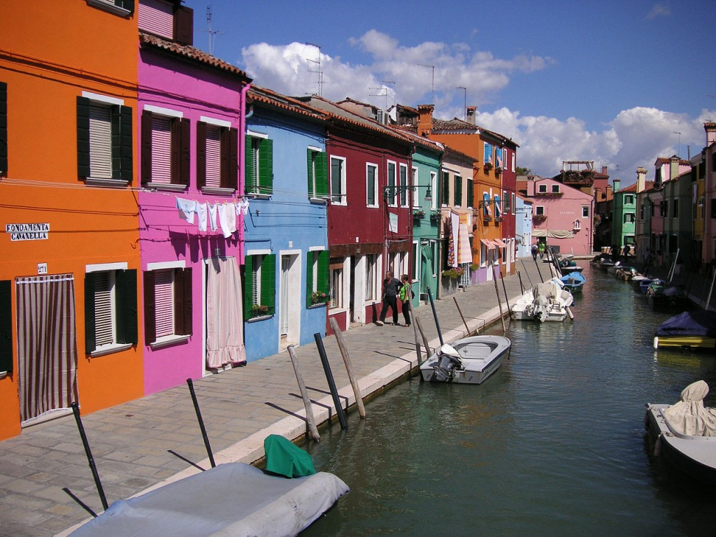 Most Colorful Places: Burano Island, Italy (source: wiki)