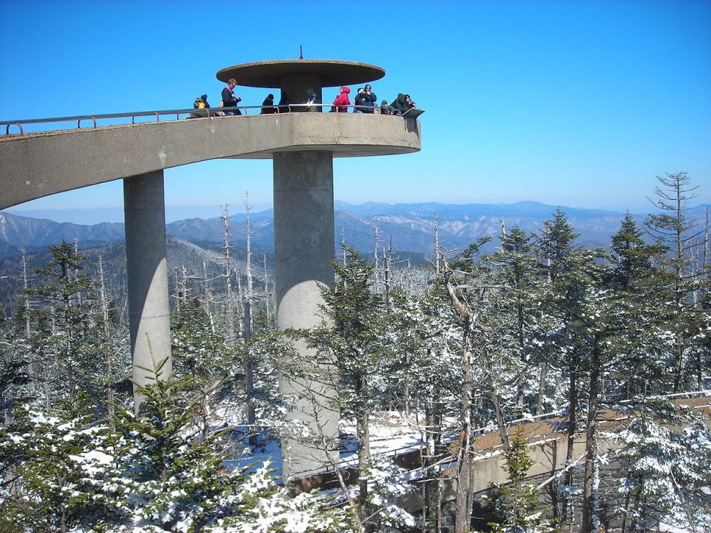 Clingman's Dome Tower at Great Smoky Mountains National Park