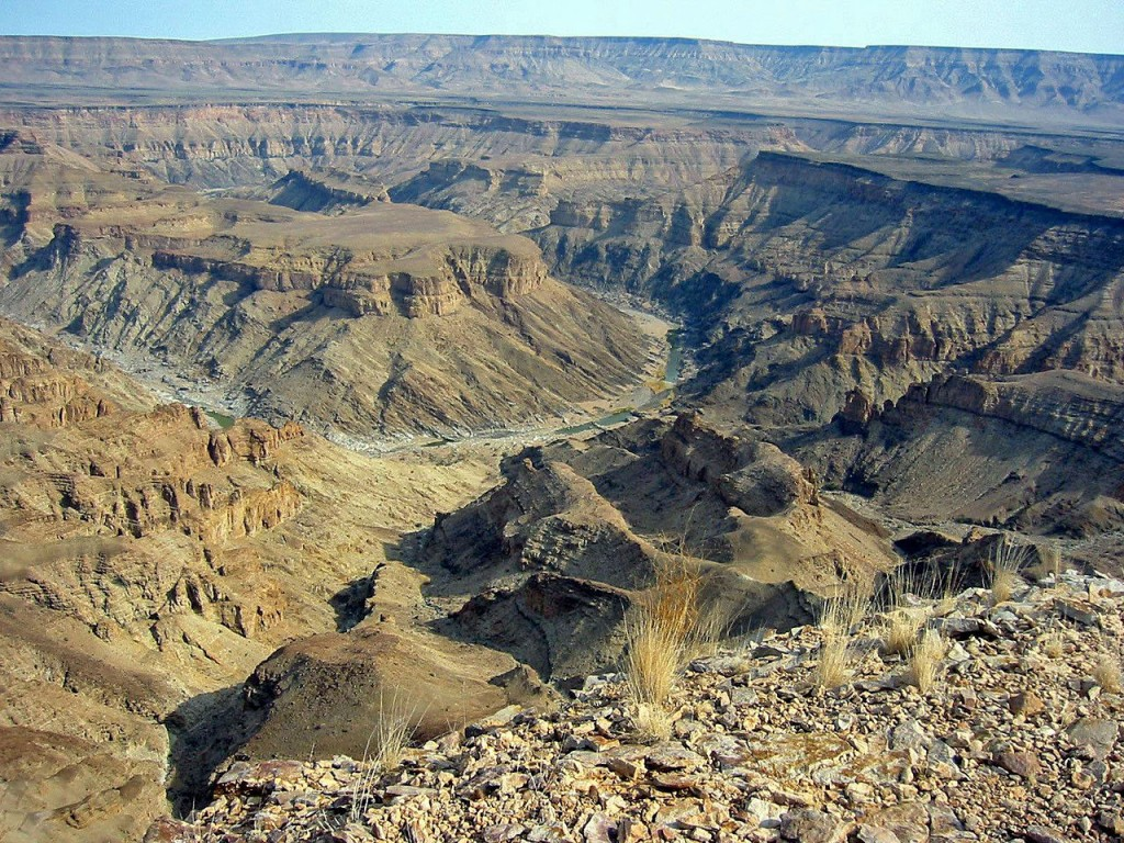 Most Famous Natural Landmarks In Africa: Fish River Canyon, Namibia (source wiki)