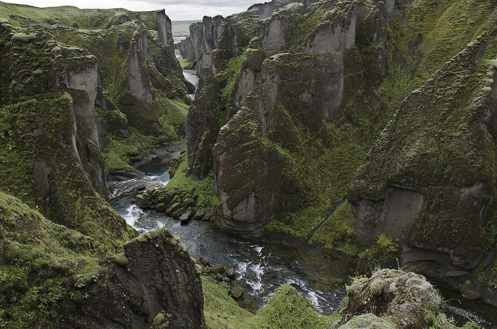 Most Breathtaking Canyons: Fjaðrárgljúfur Canyon, Iceland (source: wiki)