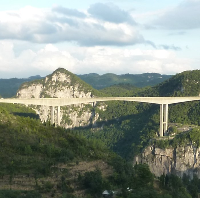 Highest Bridges: Liuguanghe Bridge, China (source: wiki)