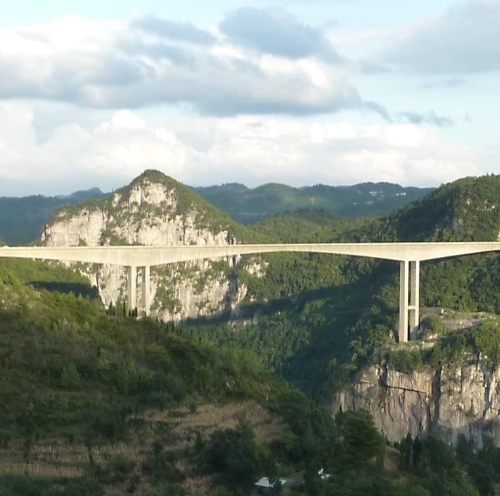 Highest Bridges: Liuguanghe Bridge, China (source: wiki)