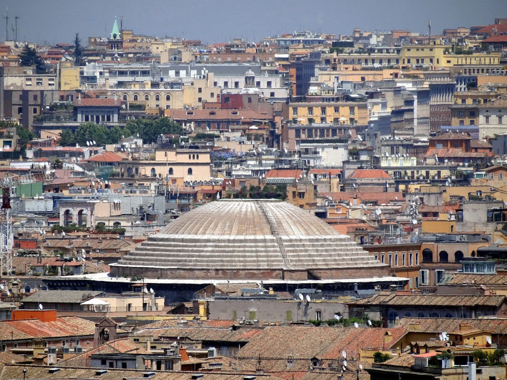 Most Famous Domes: The Pantheon in Rome (source: wiki)