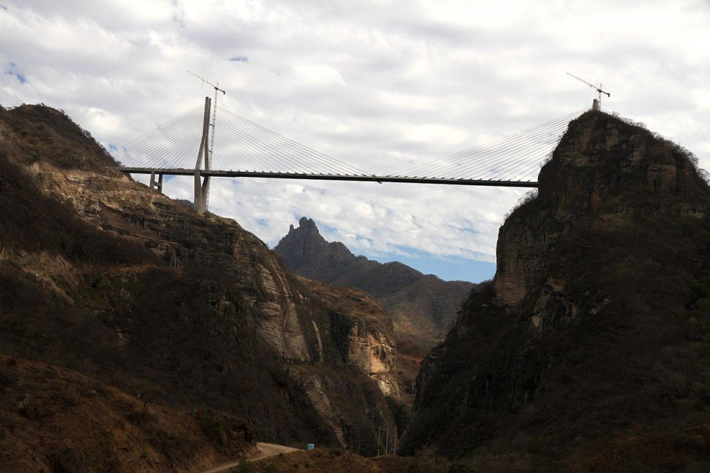 Highest Bridges: Baluarte Bridge, Mexico (source: wiki)
