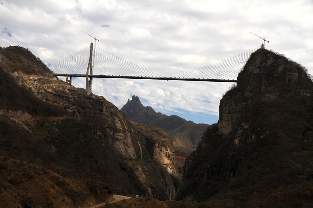 Highest Bridges: Baluarte Bridge, Mexico (source: wiki)