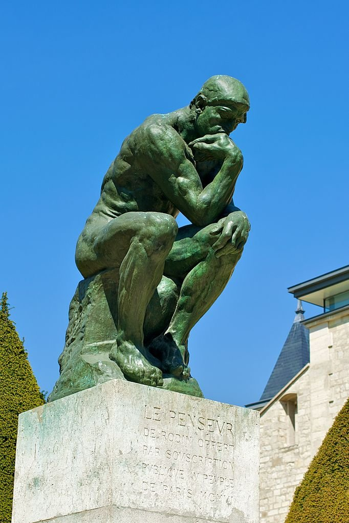 Most Famous Works Of Art: The Thinker by Auguste Rodin