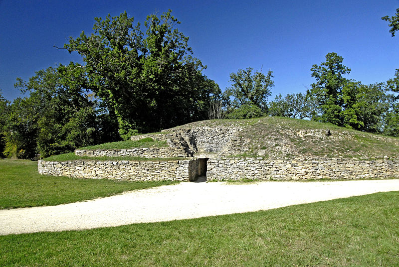 Oldest Buildings In The World: Tumulus of Bougon, France (source: wiki)