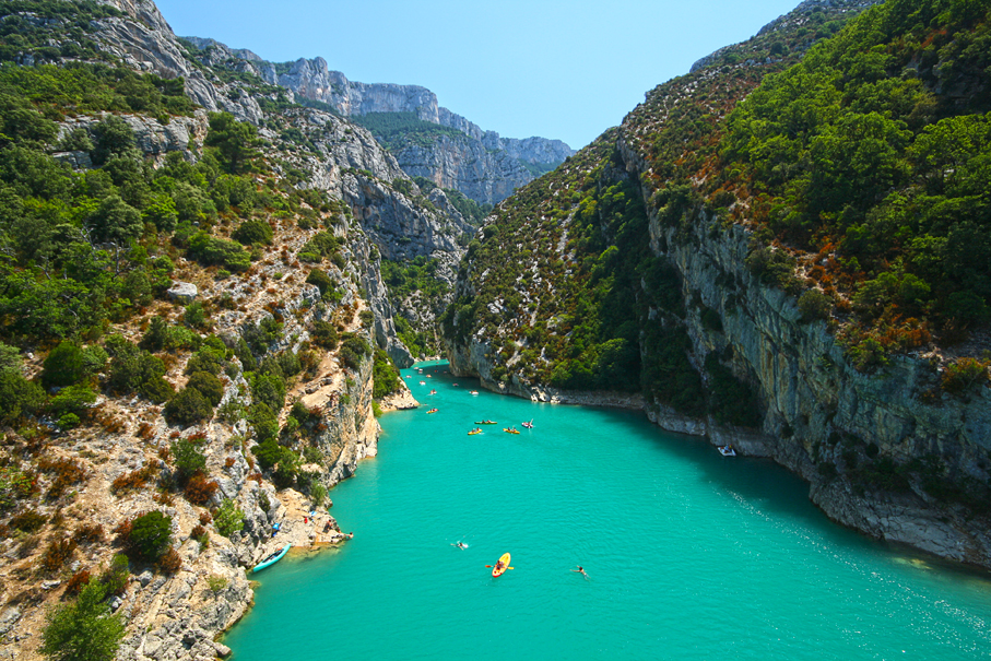 Most Breathtaking Canyons: Verdon Gorge, France (source: wiki)
