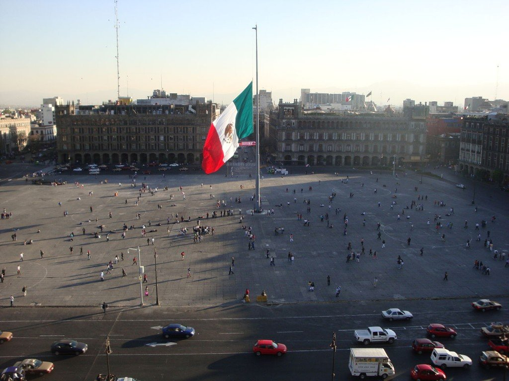 Most Famous City Squares: Zocalo, Mexico City, Mexico(source: wiki)