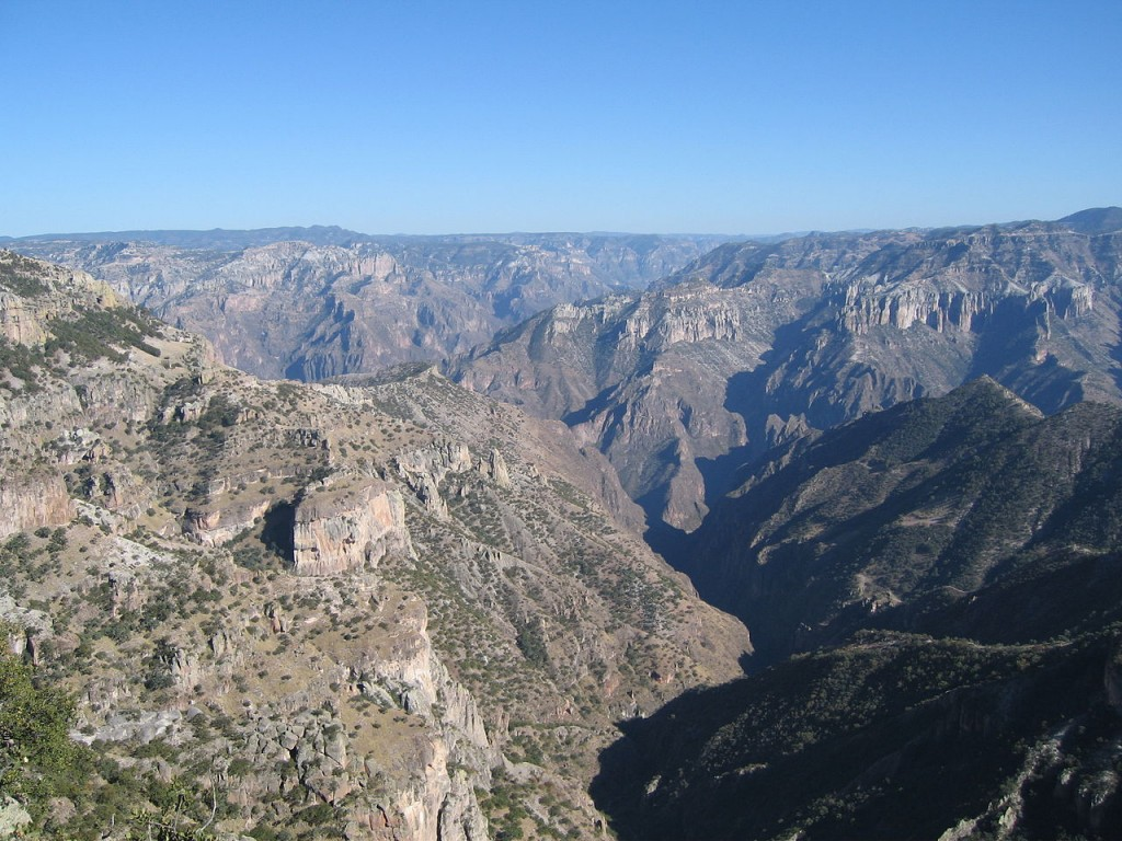Most Breathtaking Canyons: Copper Canyon, Mexico (source: wiki)