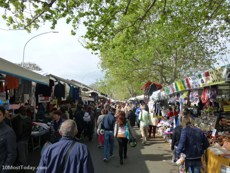Best Attractions In Rome: Porta Portese market