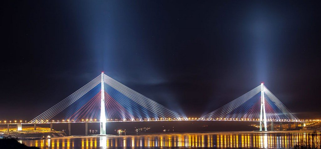 As pontes mais altas do mundo: Russky Bridge, Rússia