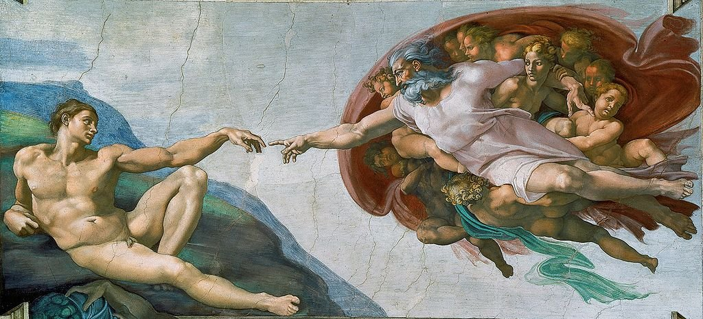 Most Famous Paintings: The Creation Of Adam, by Michelangelo