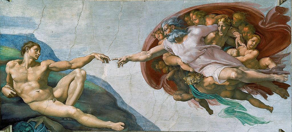 Most Famous Works Of Art: The Creation Of Adam by Michelangelo