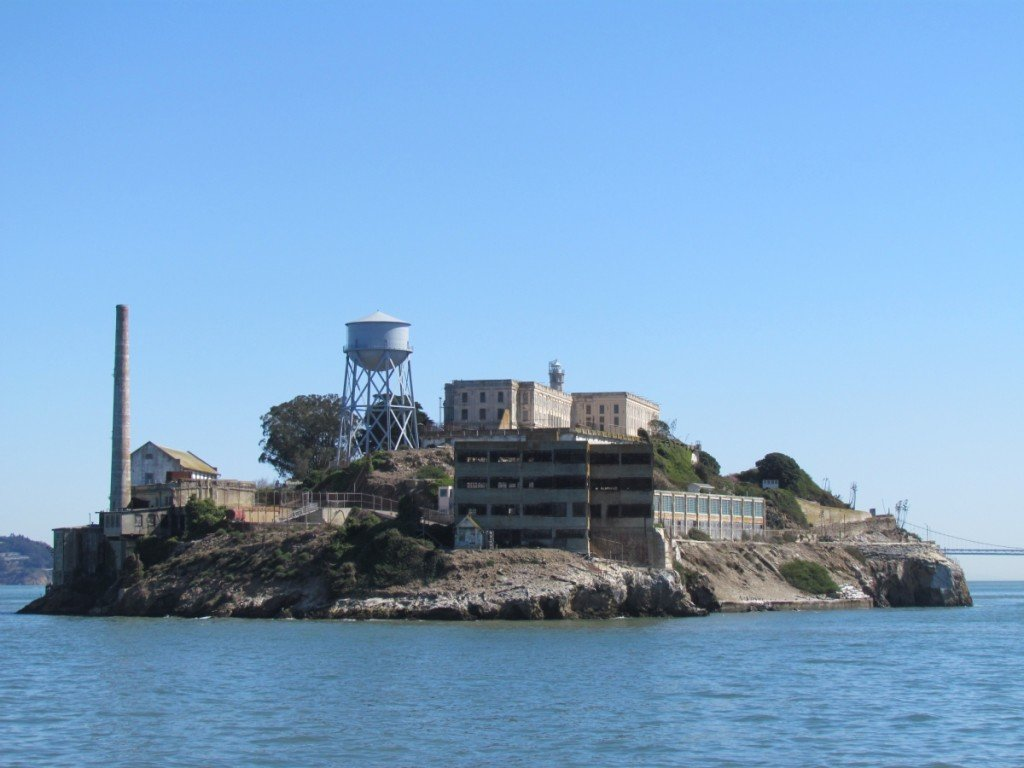 Coolest Water Towers: Alcatraz water tower, San Francisco, California