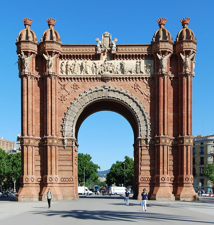 Most Famous ManMade Arches: Arc de Triomf, Barcelona source: wiki