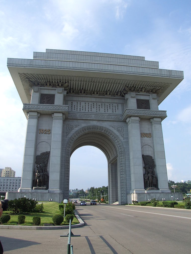 Most Famous Man-Made Arches: Arch of Triumph, Pyongyang, North Korea