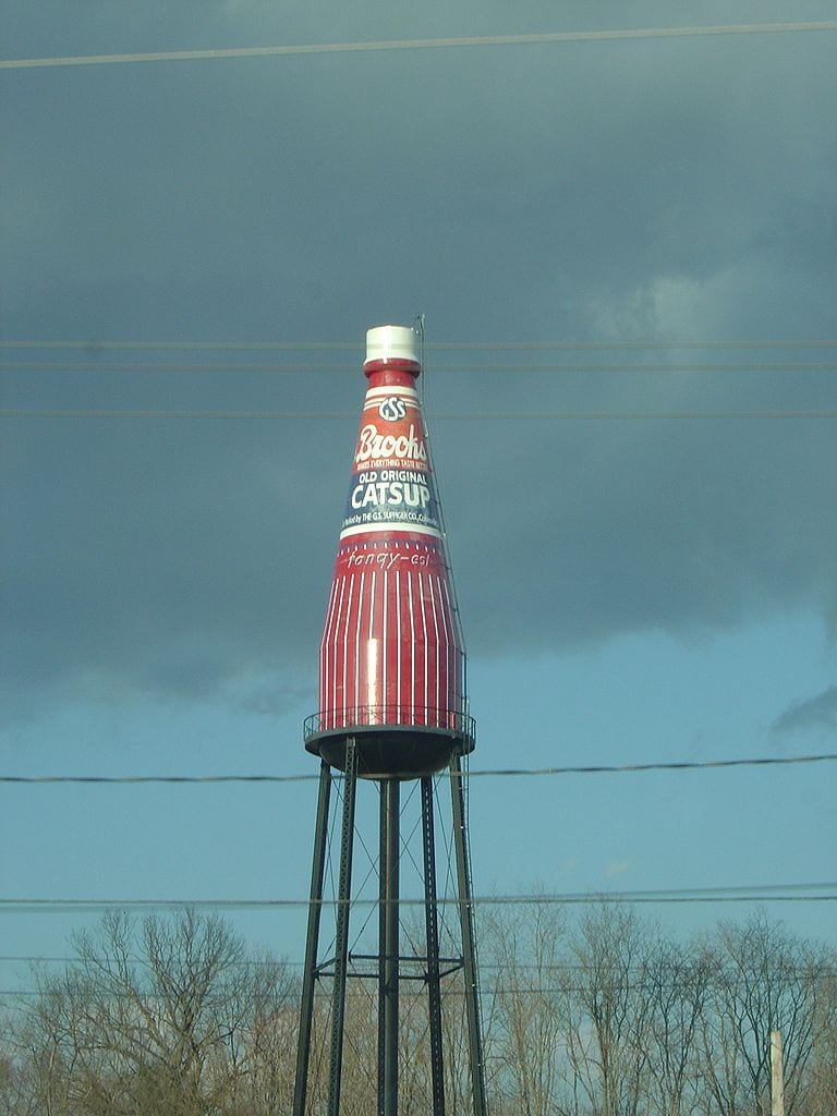 Coolest Water Towers: Brooks Catsup Bottle Water Tower, Collinsville, I